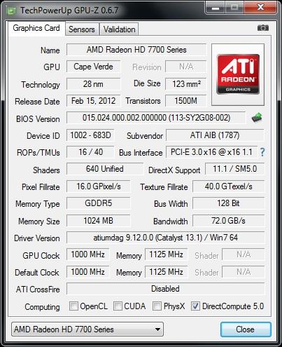 GPUz 6.7