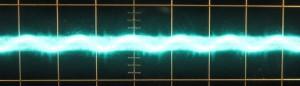 12 V Ripple, Cold, Scope @ 10 µs / 10 mV, ~9mV of ripple