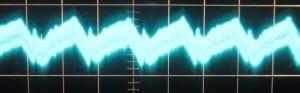 12 V Ripple @ Full Load, Cold, Scope @ 5 ms / 10 mV, ~17mV of ripple