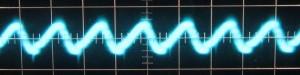12 V Ripple, Cold, Scope @ 10 µs / 10 mV, ~13mV of ripple