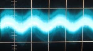 3.3 V Ripple @ Full Load, Hot, Scope @ 5 ms / 10 mV, ~22mV of ripple