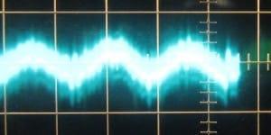 5 V Ripple @ Full Load, Cold, Scope @ 5 ms / 10 mV, ~18mV of ripple