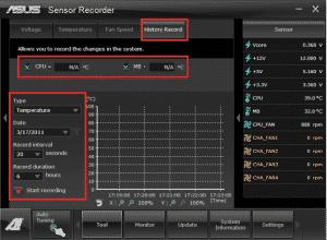 Sensor Recorder History Record