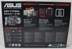 ASUS HD 7790 DirectCU II Box Rear