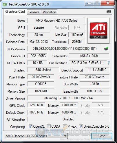 ASUS HD 7790 DirectCU II OC - Overclocked