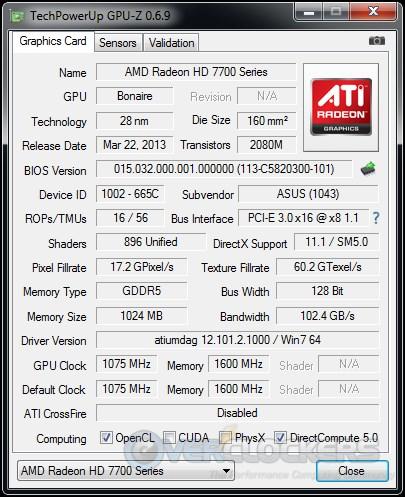 ASUS HD 7790 DirectCU II OC In Action