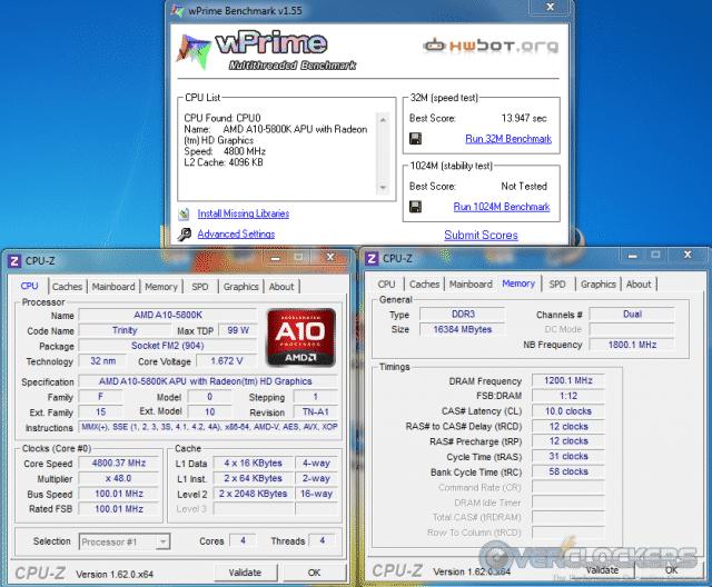WPrime 32M @ 4.8 GHz/2400 MHz Mem