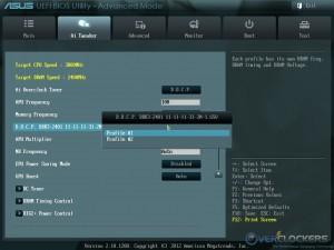 XMP Profile Select