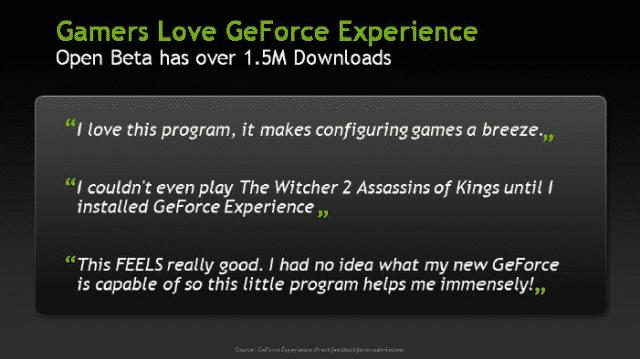 GeForce Experience Feedback