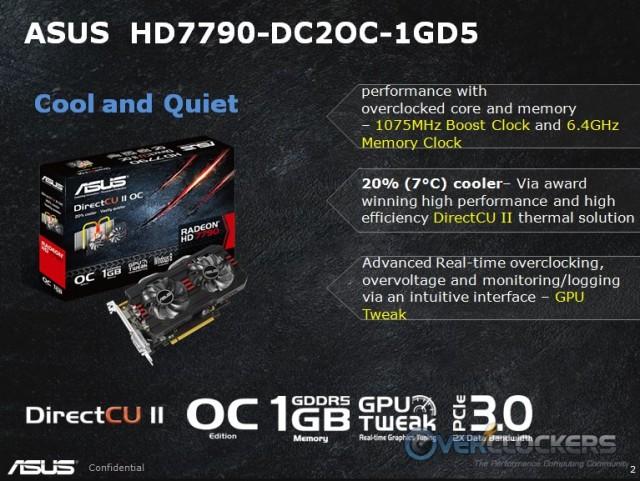 ASUS HD 7790 DirectCU II OC Features