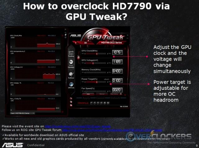 ASUS HD 7790 DirectCU II OC GPU Tweak