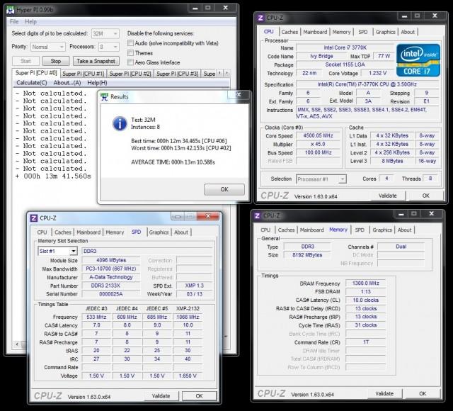 ADATA XPG 2133X CL10 - max stable OC