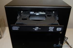 Drive Bay Door installed - DVD ROM Tray Open