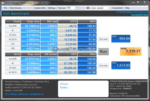Anvil's Storage Utility 100% Incompressible Data Test