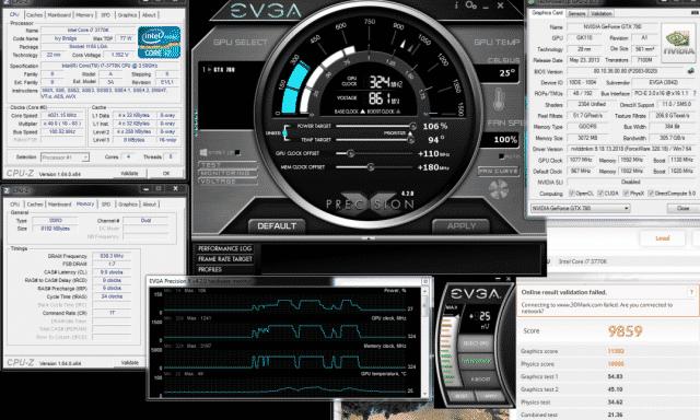 1241/1592 MHz Overclock