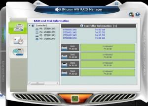 JMicron HW RAID Manager - Basic