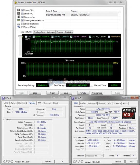 20 Minute Stress Test @ 5.0 GHz