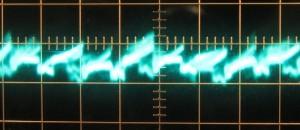 5 V Ripple, Cold, Full Load, 5µs/10mV,     ~14mV Ripple