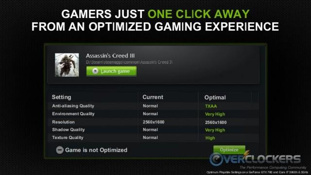 Optimized Gaming Profiles