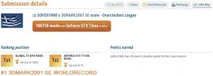 3DMark01 Record