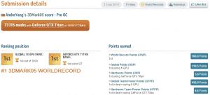 3DMark05 Record