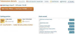 SuperPi 32M Record