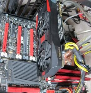 ASUS GTX 760 DirectCU II Installed