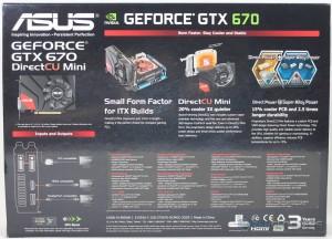 ASUS GTX 670 DirectCU Mini Box Rear