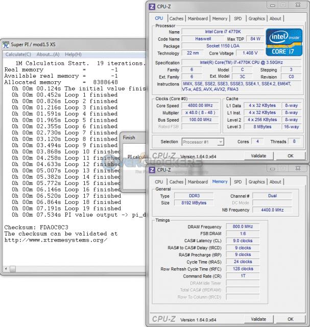 SuperPI 1M 4.8 GHz