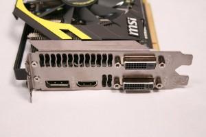 Outputs - 1x Displayport, 1x HDMI, 2x DVI.