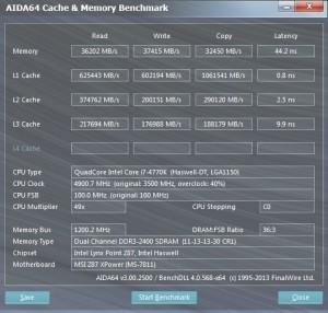 AIDA64 - 4.9 GHz