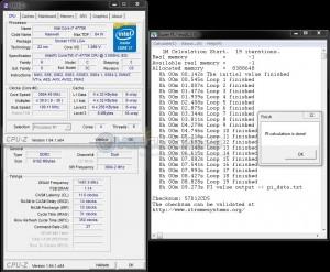 SuperPi 1M @ DDR3-2800, 11-14-12-31, 1.65V