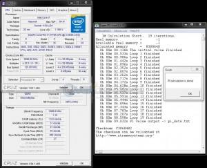 SuperPi 1M @ DDR3-3333, 13-31-31-45, 1.80V