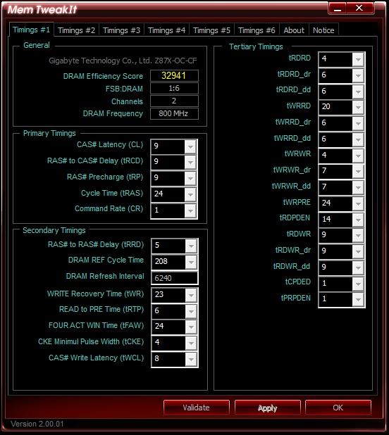 Super Talent DDR3-1600 9-9-9-24 - Mem Tweak It