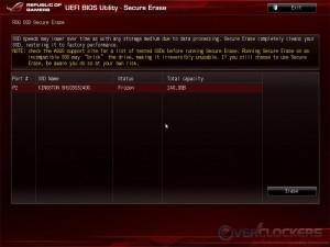 ROG SSD Secure Erase