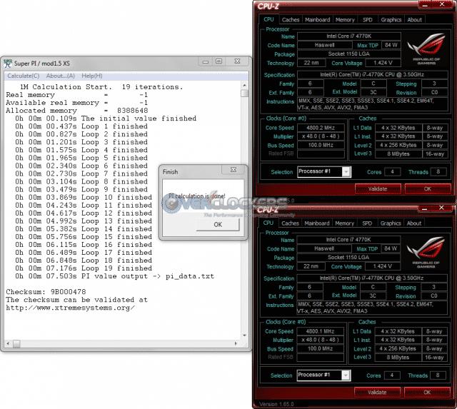 SuperPi @ 4.8 GHz