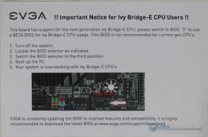 BIOS Notice for Ivy Bridge-E