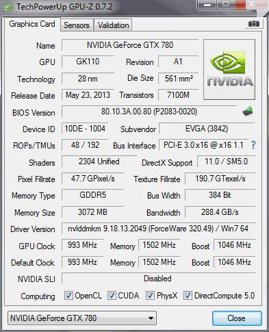 GPU-Z Specs Confirmation