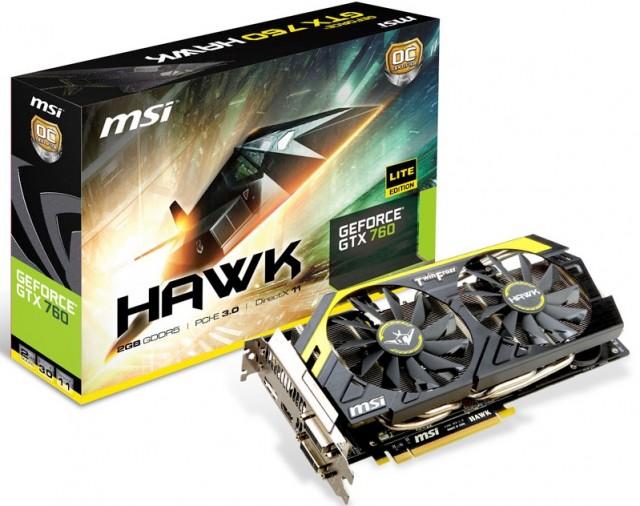 MSI N760 HAWK (Image Courtesy of MSI website)