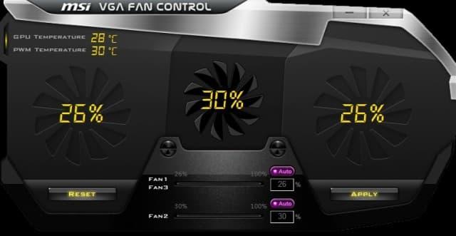 MSI VGA Fan Control