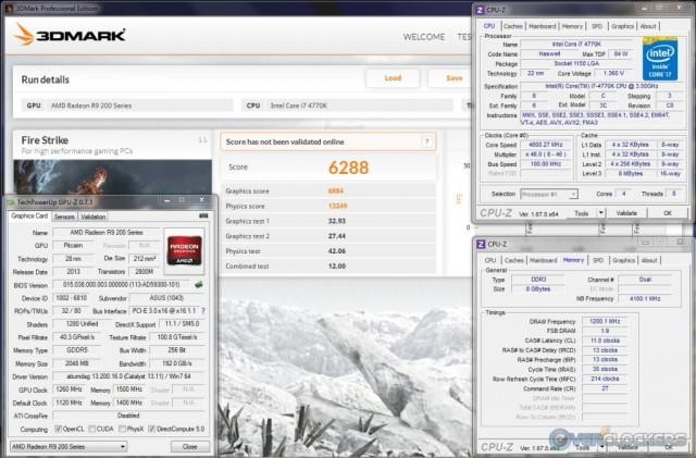 3DMark Fire Strike @ 1260 GPU / 1500 MHz Memory