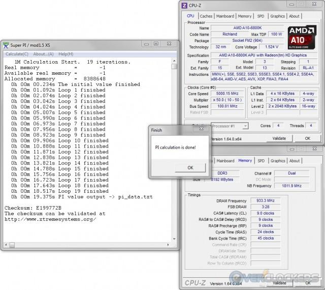 SuperPI 1M @ 5.5 GHz APU / 1866 MHz Memory