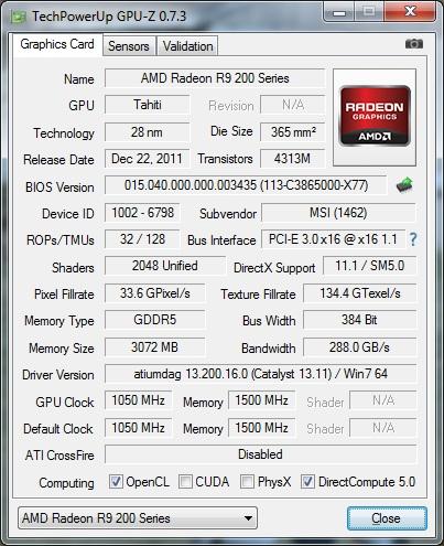 GPUz v7.3