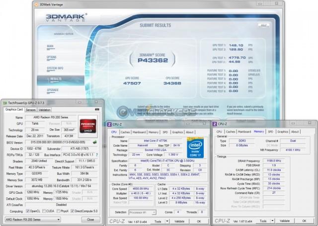 3DMark Vantage @ 1260 GPU/1725 Memory