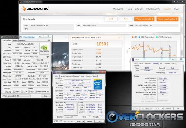 3DMark Firestrike - 10,501