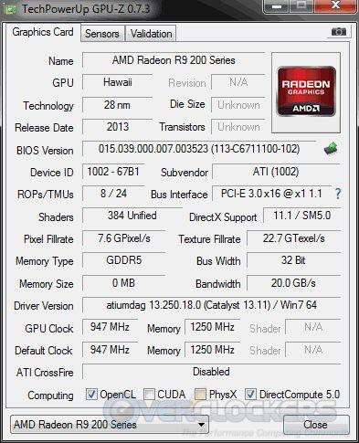 AMD R9 290 GPUz