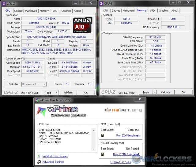 WPrime 32M @ 5.1 GHz APU/1866 MHz Memory