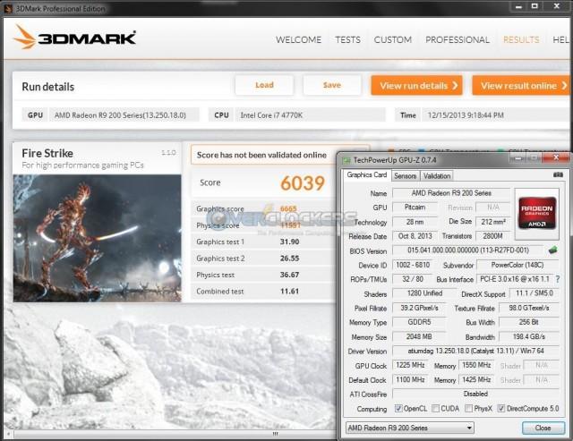 3DMark Fire Strike @ 1225 GPU/1550 Memory