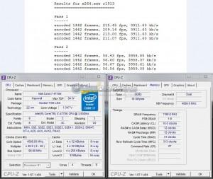 x264 Benchmark @ 4.6 GHz