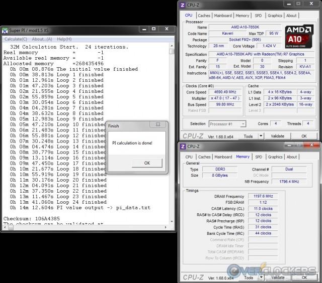 SuperPi 32M at 4.7 GHz